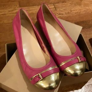 Cole Haan x Nike Air pink and gold flats